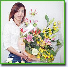 手作りの贈呈用花束