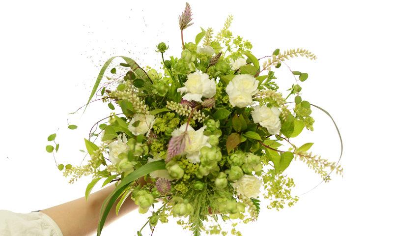 白グリーンの花束
