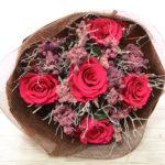【プリザーブドフラワー】茎付きバラの花束