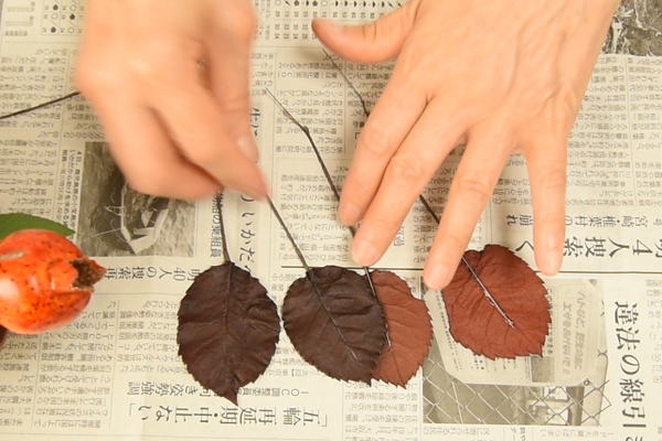 葉の下準備