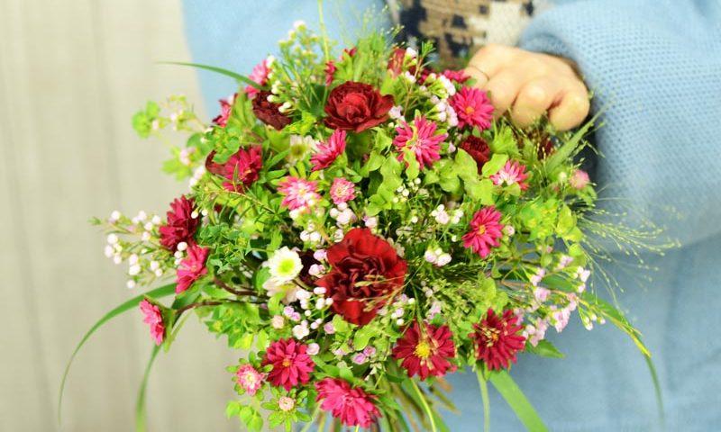 ほぐれた花束