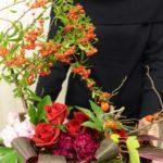 【秋のアレンジメント】実ものたっぷり・ピラカンサス×柿