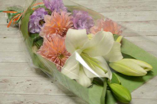 ユリとダリアの花束